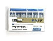 Штифты стоматологические абсорбирующие бумажные, размер 30, 200 шт. (DiaDent)
