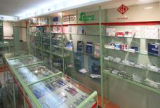 Розничный магазин Coral - витрины